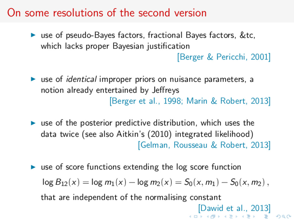 On some resolutions of the second version use o...