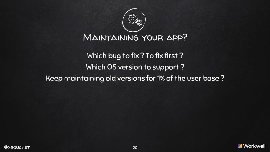 @xgouchet @xgouchet Maintaining your app? Which...