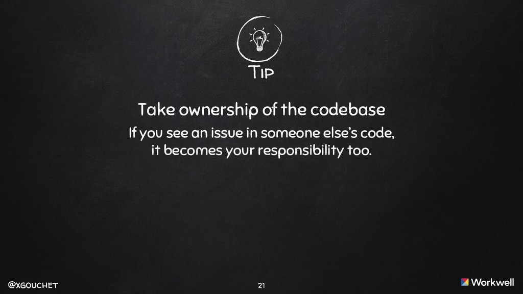 @xgouchet @xgouchet Tip Take ownership of the c...