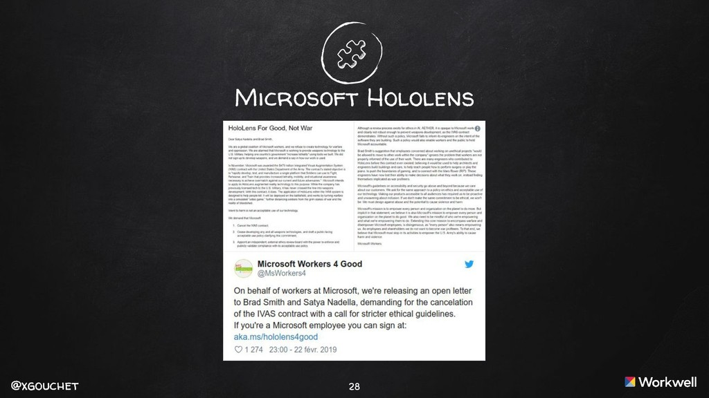 @xgouchet @xgouchet 28 Microsoft Hololens