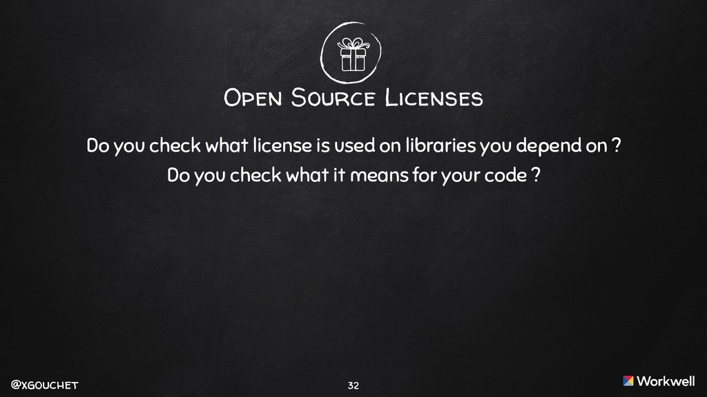 @xgouchet @xgouchet Open Source Licenses Do you...