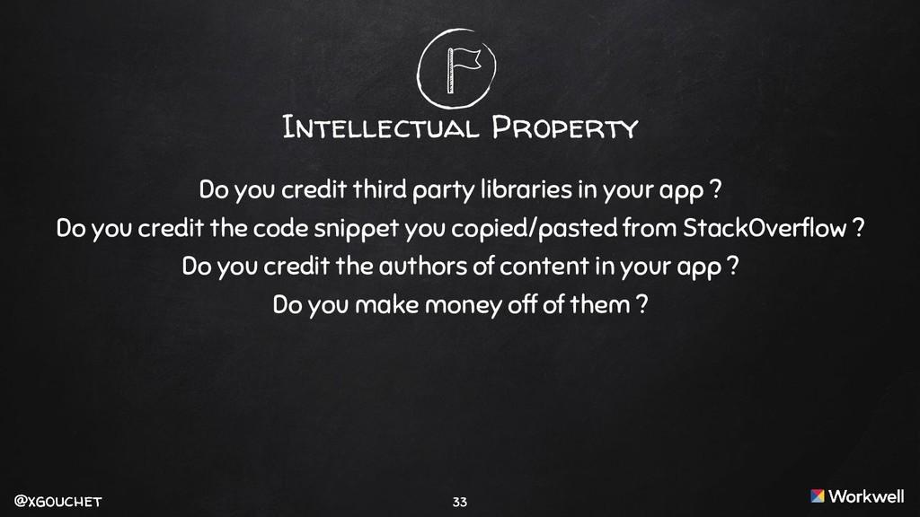 @xgouchet @xgouchet Intellectual Property Do yo...