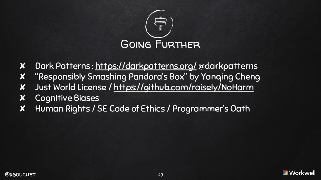 @xgouchet @xgouchet Going Further ✘ Dark Patter...