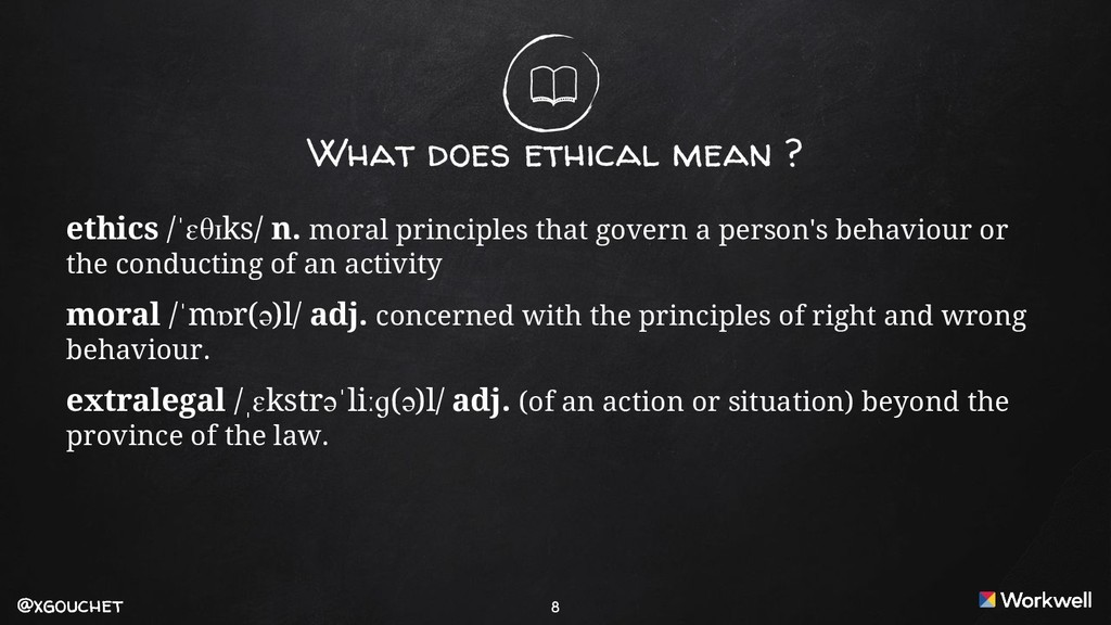 @xgouchet @xgouchet What does ethical mean ? et...