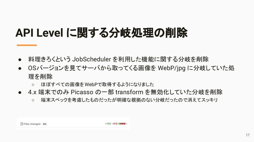 ● 料理きろくという JobScheduler を利用した機能に関する分岐を削除 ● OSバー...