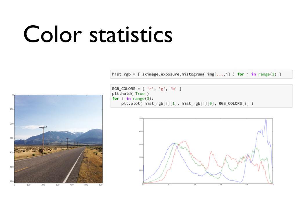 Color statistics