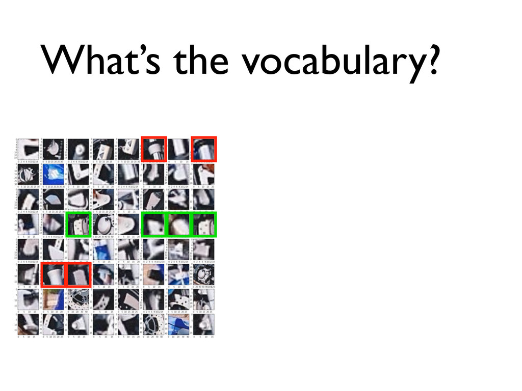 What's the vocabulary?
