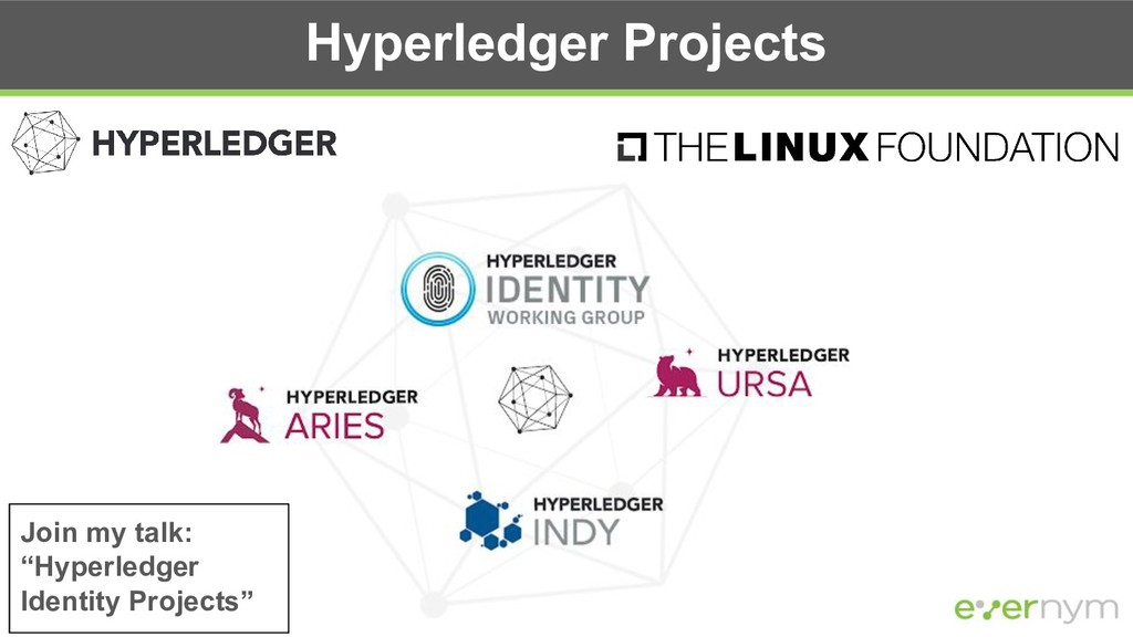 "Hyperledger Projects Join my talk: ""Hyperledger..."