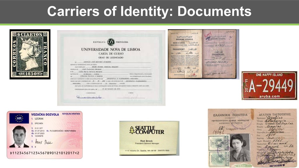 Carriers of Identity: Documents