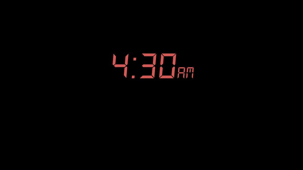 4:30am am