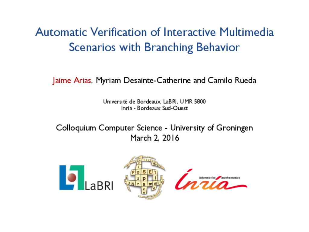Automatic Verification of Interactive Multimedi...