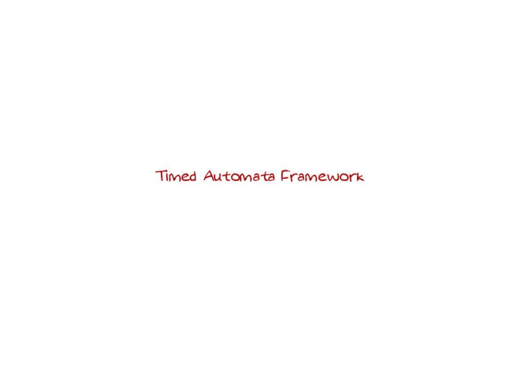 Timed Automata Framework