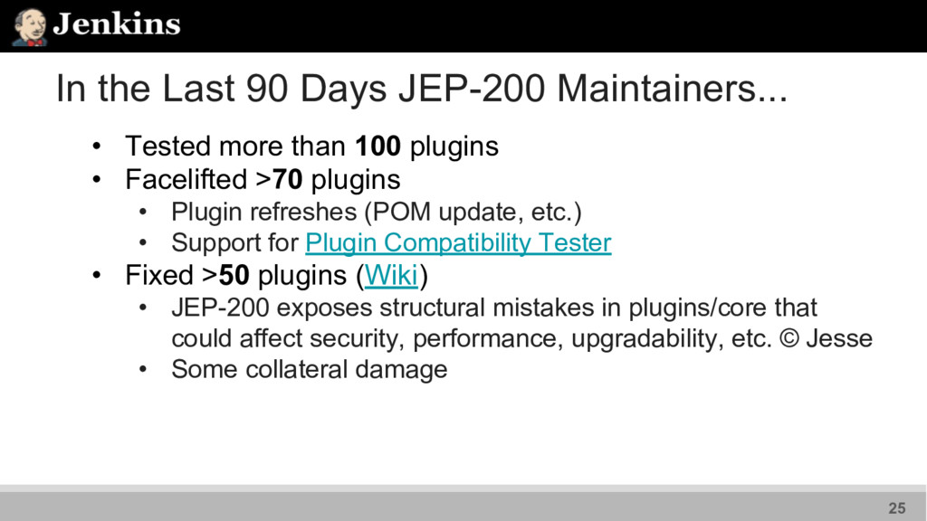 In the Last 90 Days JEP-200 Maintainers... • Te...