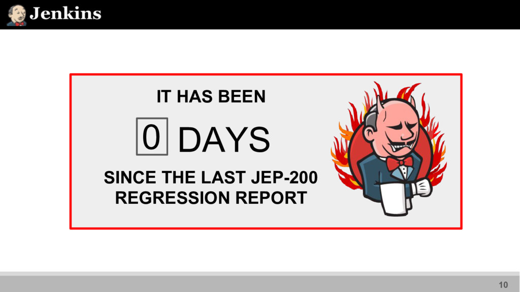 IT HAS BEEN 0 DAYS SINCE THE LAST JEP-200 REGRE...