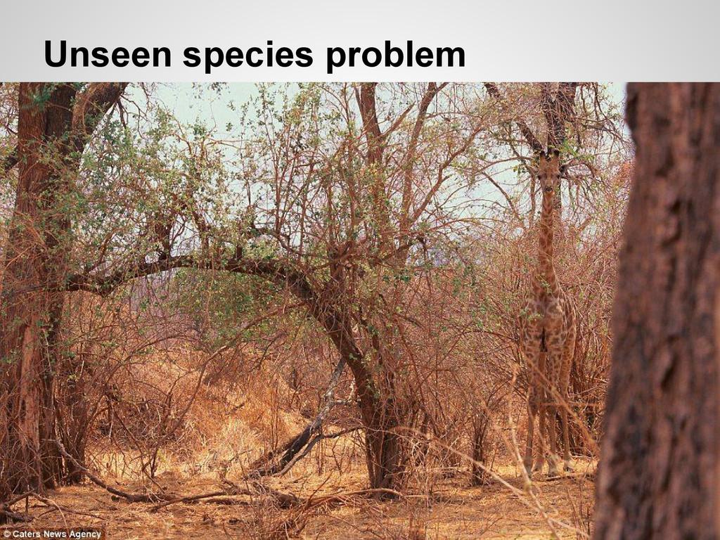 Unseen species problem