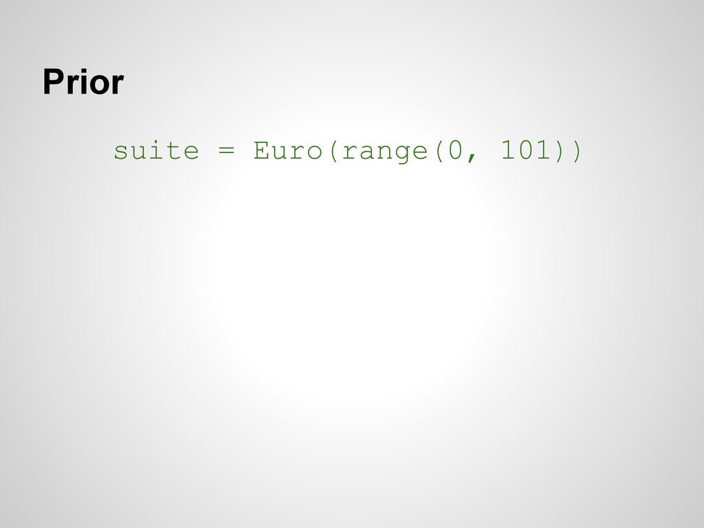 Prior suite = Euro(range(0, 101))