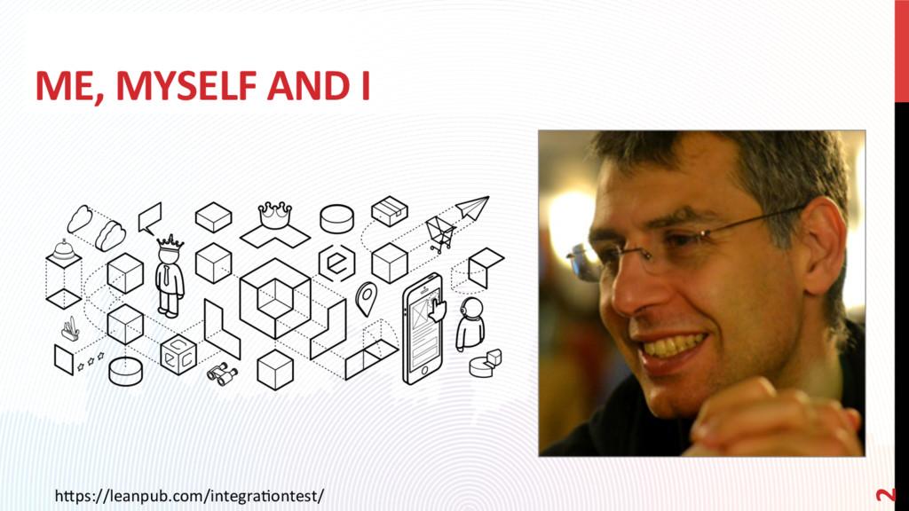 ME, MYSELF AND I h0ps://leanpub.com/integraCont...