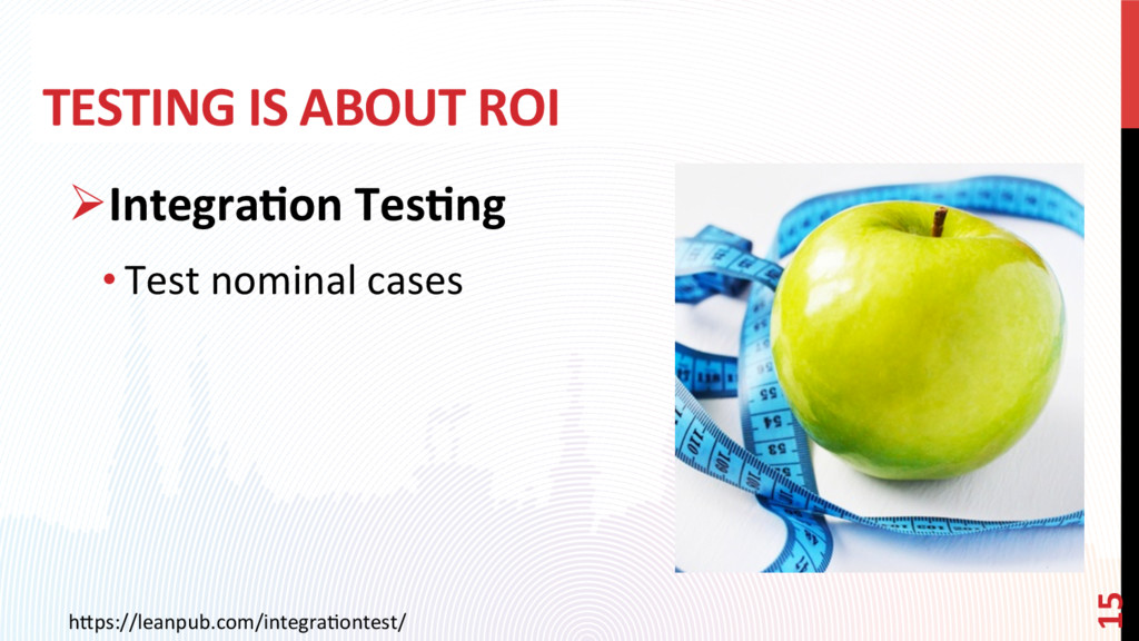 TESTING IS ABOUT ROI ØIntegra?on Tes?ng •Test...