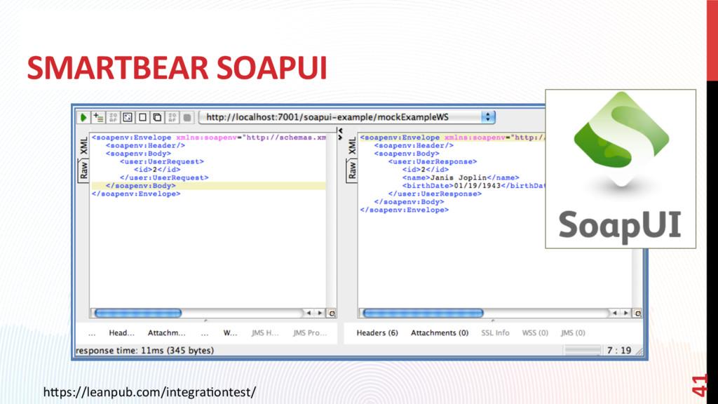 SMARTBEAR SOAPUI h0ps://leanpub.com/integraCont...