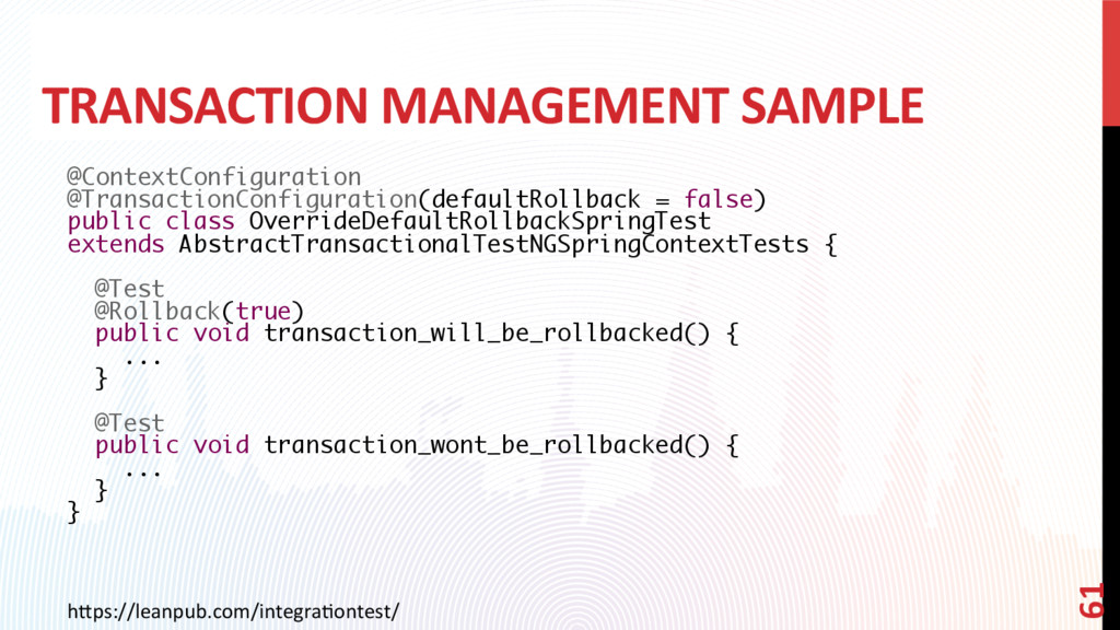 TRANSACTION MANAGEMENT SAMPLE @ContextConfigura...