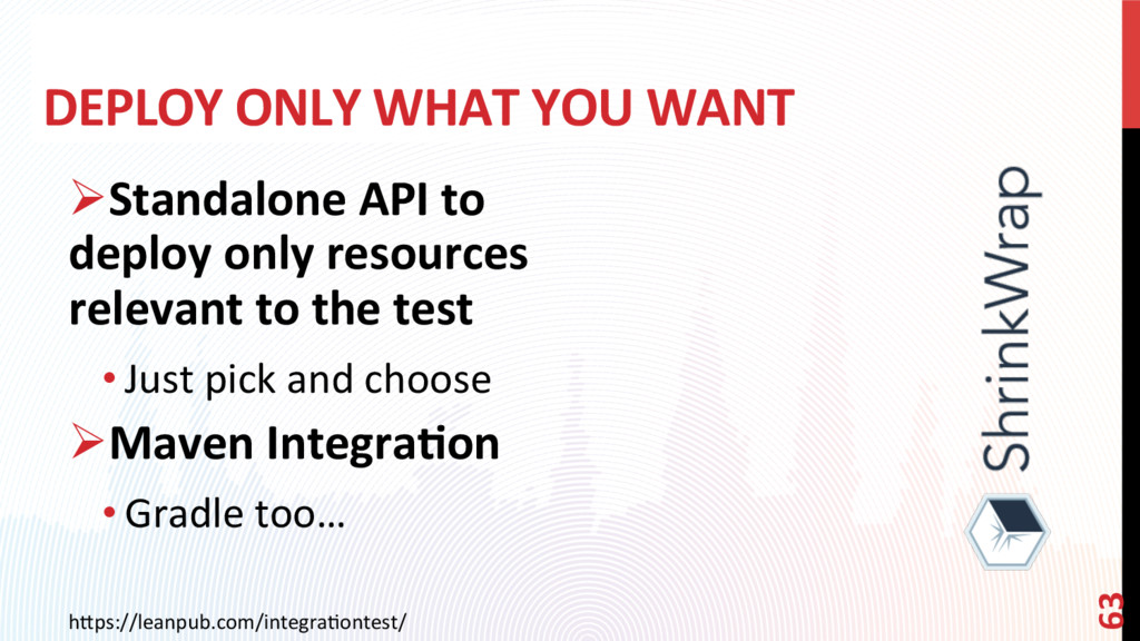 DEPLOY ONLY WHAT YOU WANT ØStandalone API to d...