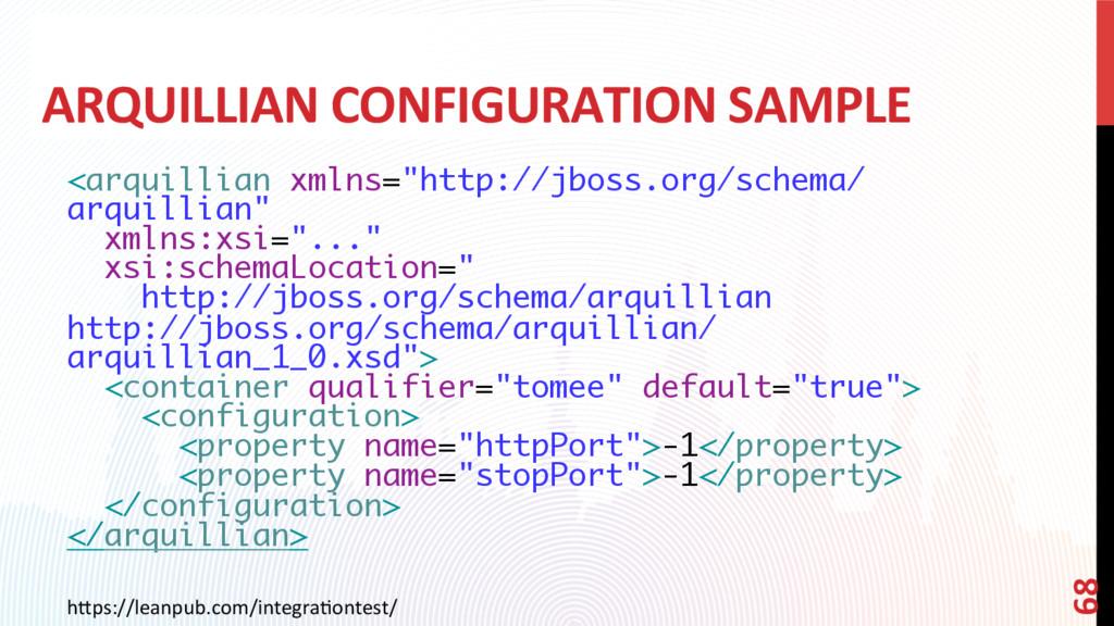 ARQUILLIAN CONFIGURATION SAMPLE <arquillian xml...