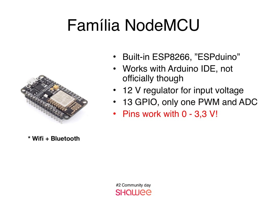 "#2 Community day • Built-in ESP8266, ""ESPduino""..."