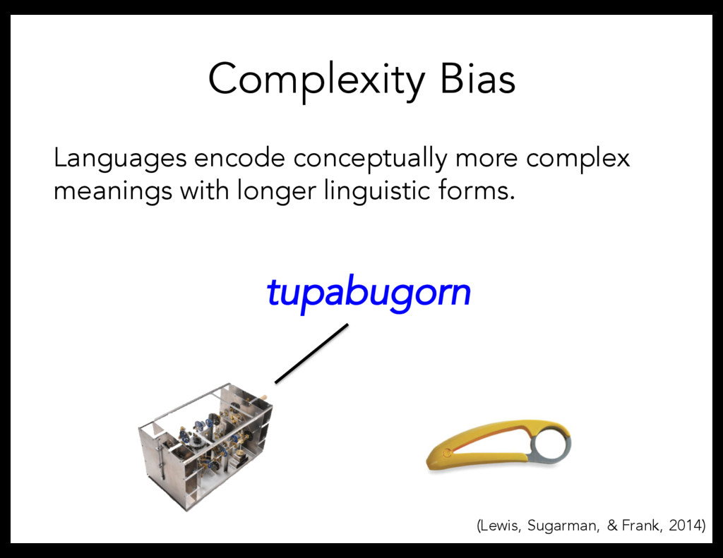 Complexity Bias Languages encode conceptually m...
