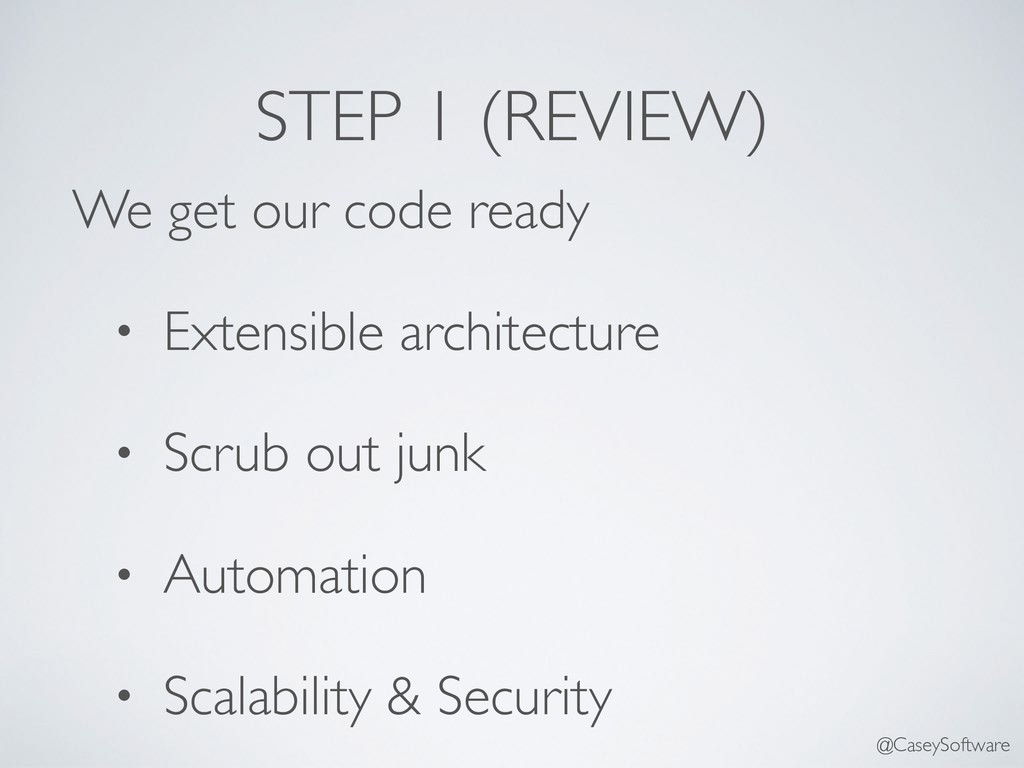 STEP 1 (REVIEW) We get our code ready • Extensi...