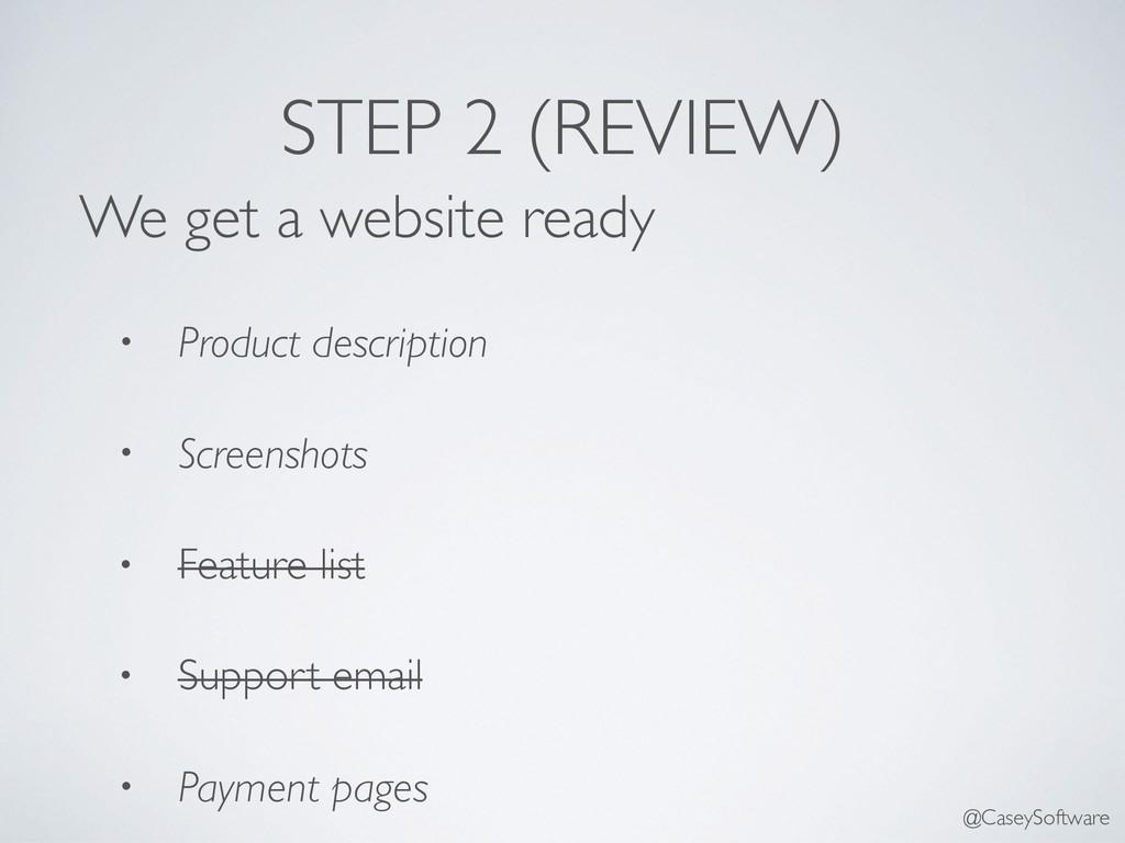 We get a website ready • Product description • ...