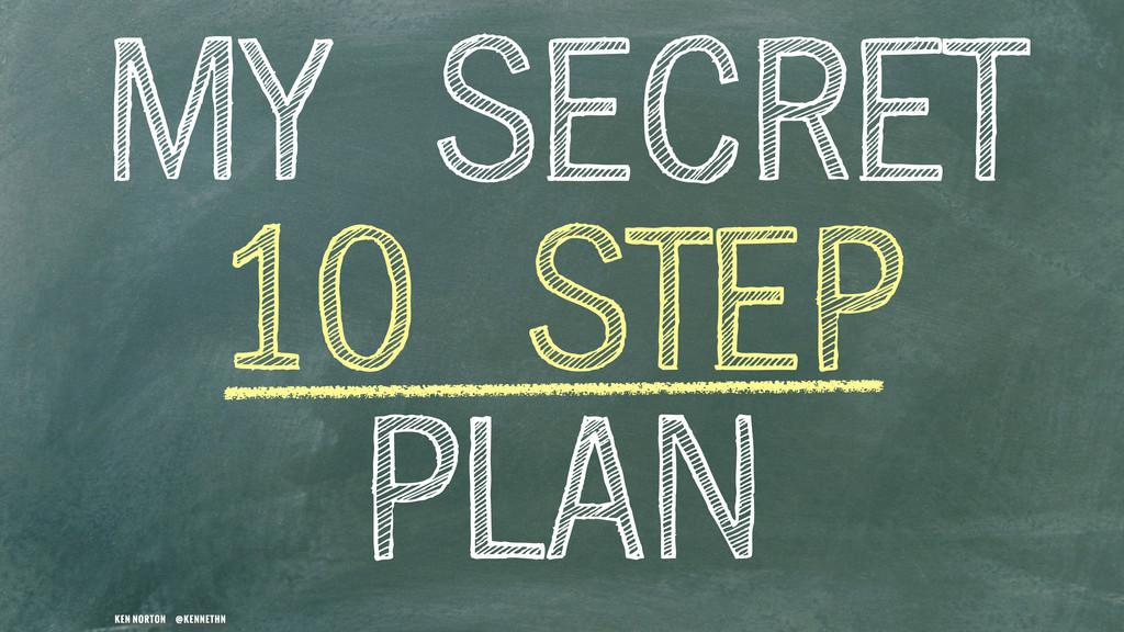 KEN NORTON @KENNETHN MY SECRET 10 STEP PLAN