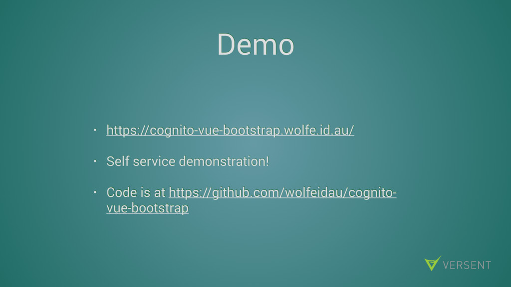 Demo • https://cognito-vue-bootstrap.wolfe.id.a...