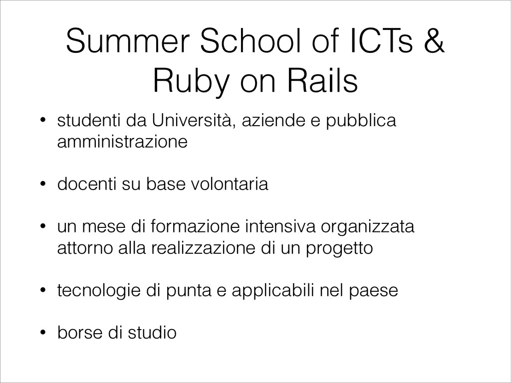 Summer School of ICTs & Ruby on Rails • student...