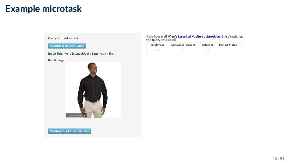 Example microtask 16 / 54