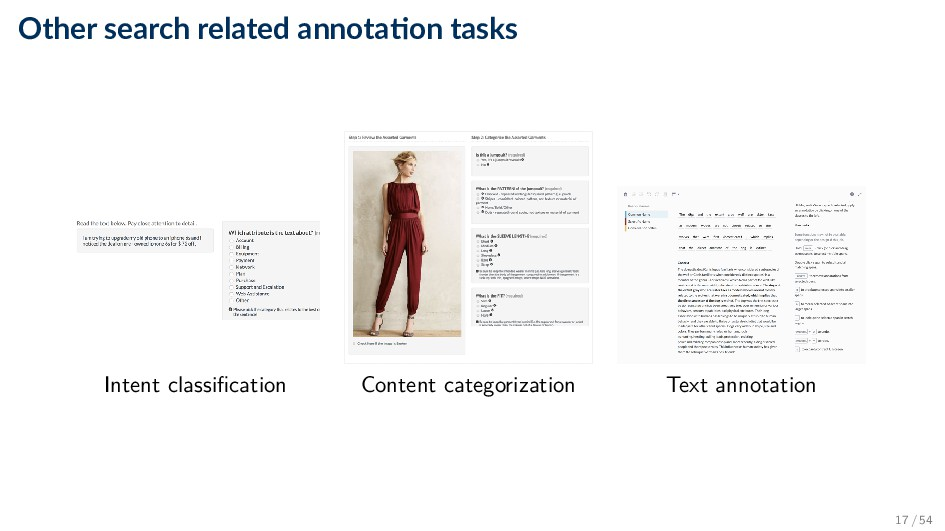 Other search related annota on tasks Intent cla...