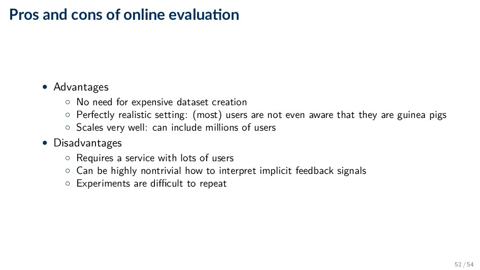 Pros and cons of online evalua on • Advantages ...