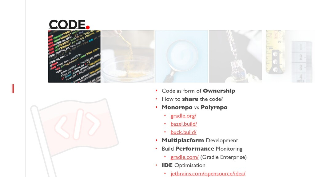CODE. • Code as form of Ownership • How to shar...