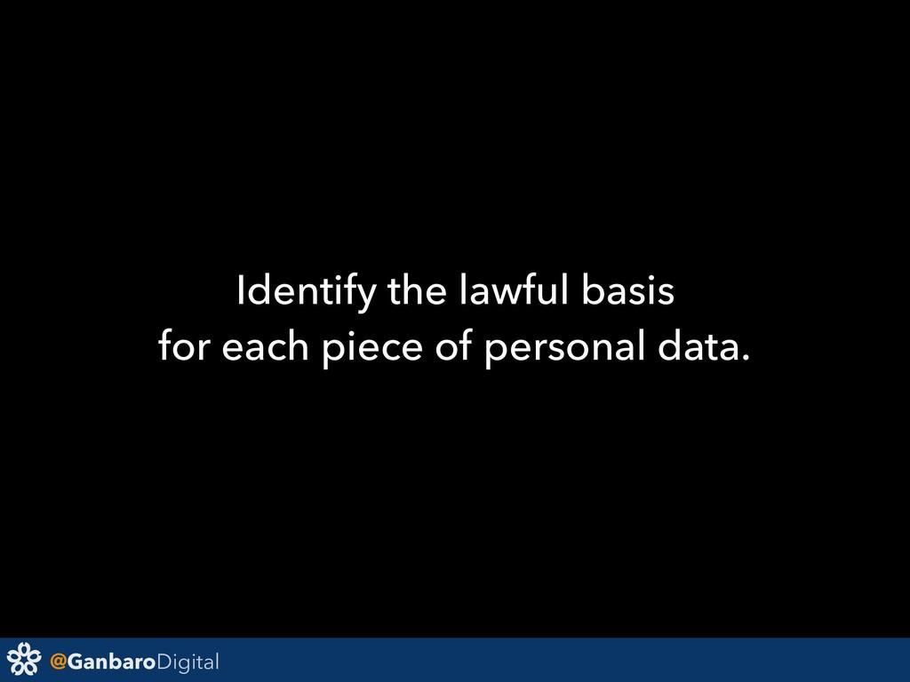 @GanbaroDigital Identify the lawful basis for e...