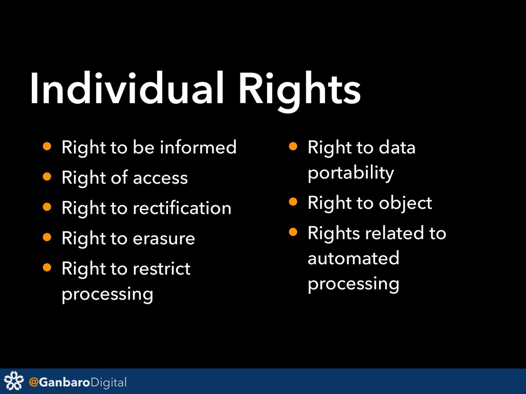 @GanbaroDigital • Right to be informed • Right ...