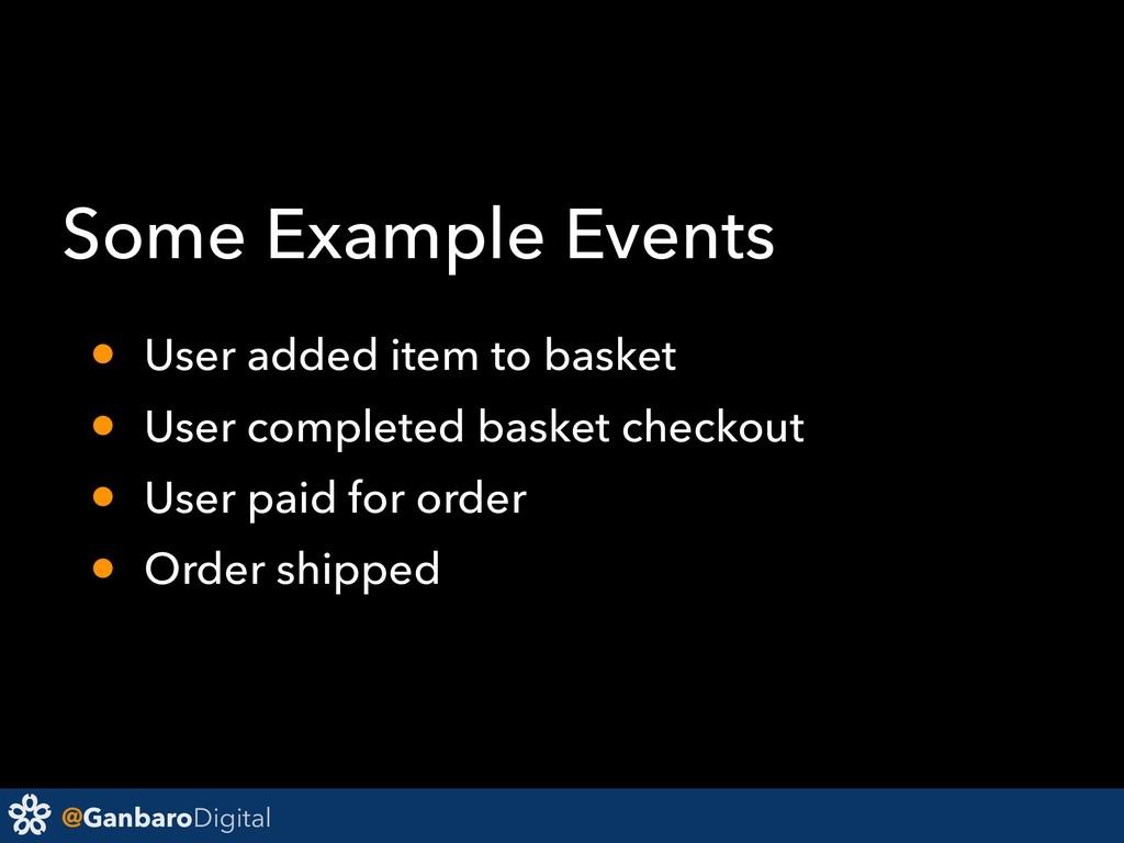 @GanbaroDigital Some Example Events • User adde...