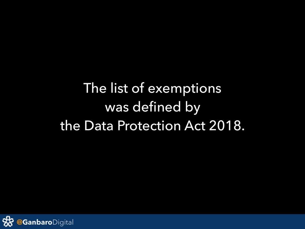@GanbaroDigital The list of exemptions was defin...