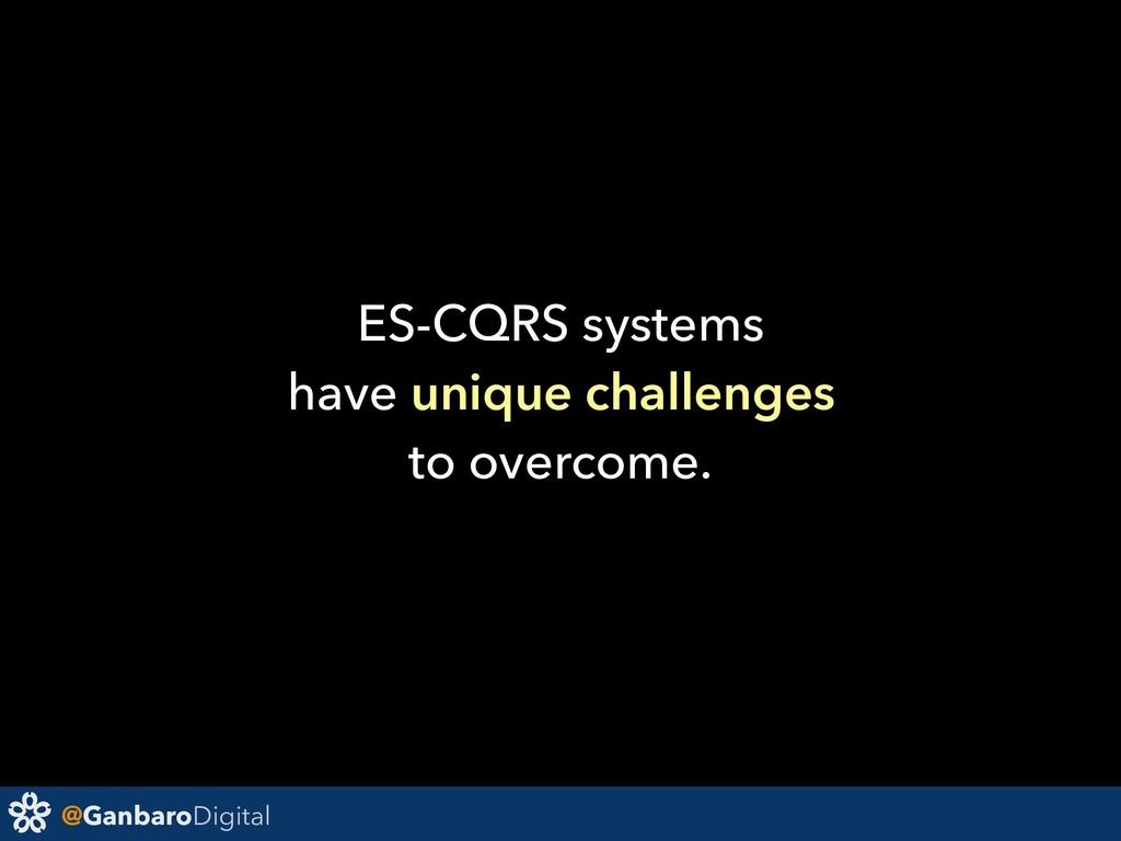 @GanbaroDigital ES-CQRS systems have unique cha...
