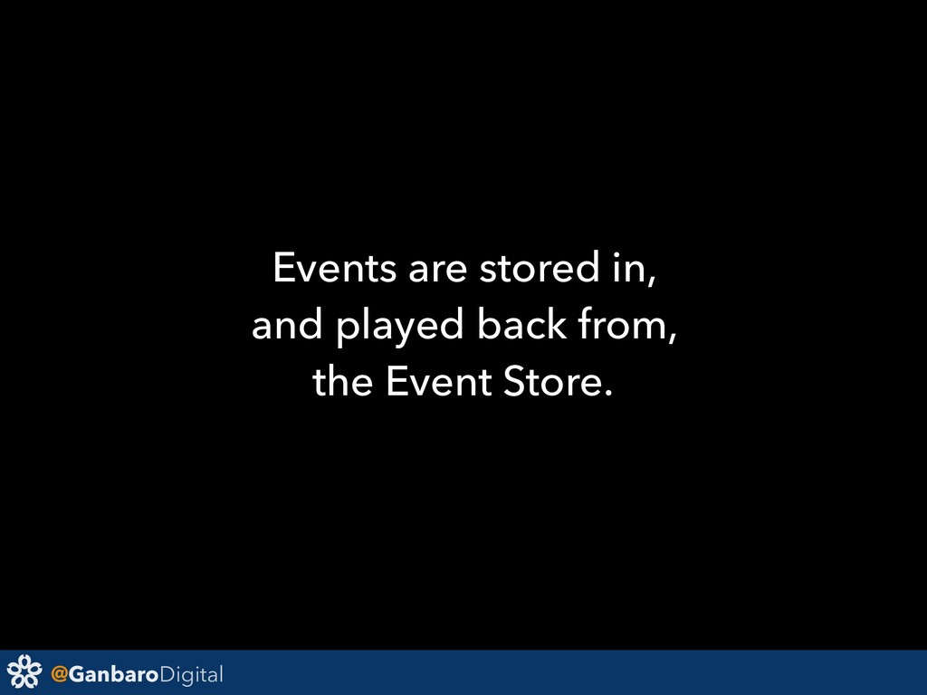 @GanbaroDigital Events are stored in, and playe...