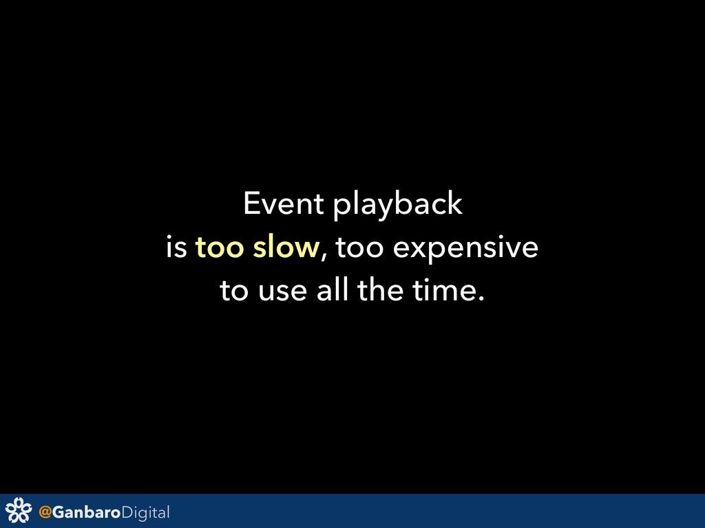 @GanbaroDigital Event playback is too slow, too...
