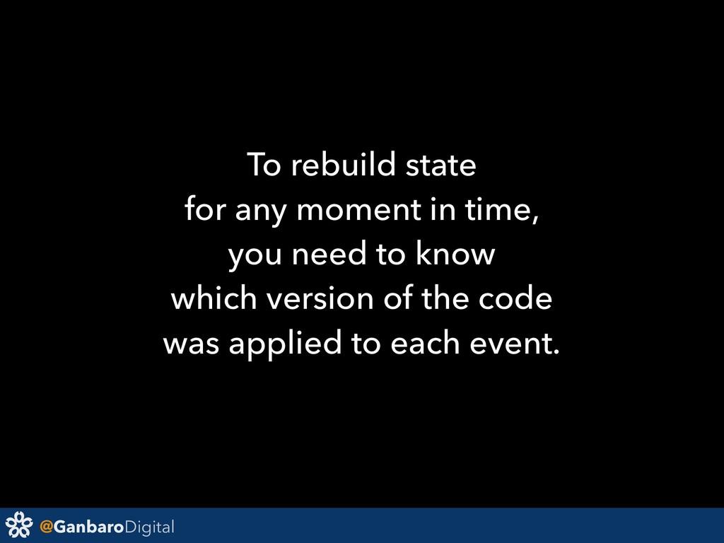 @GanbaroDigital To rebuild state for any moment...