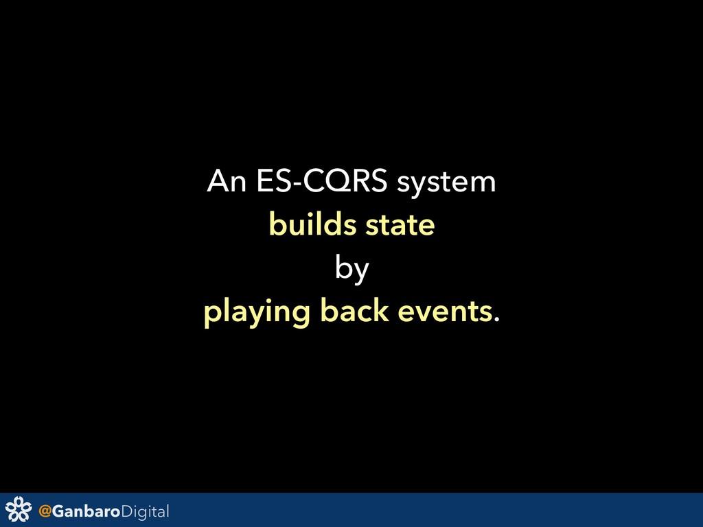 @GanbaroDigital An ES-CQRS system builds state ...