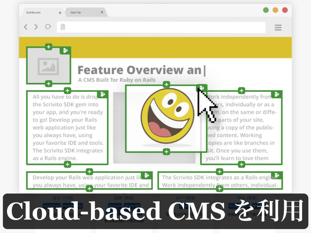Cloud-based CMS Λར༻