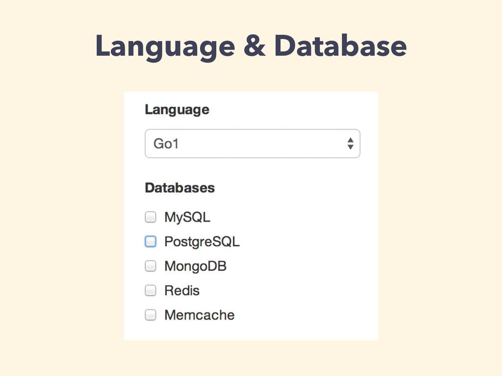 Language & Database