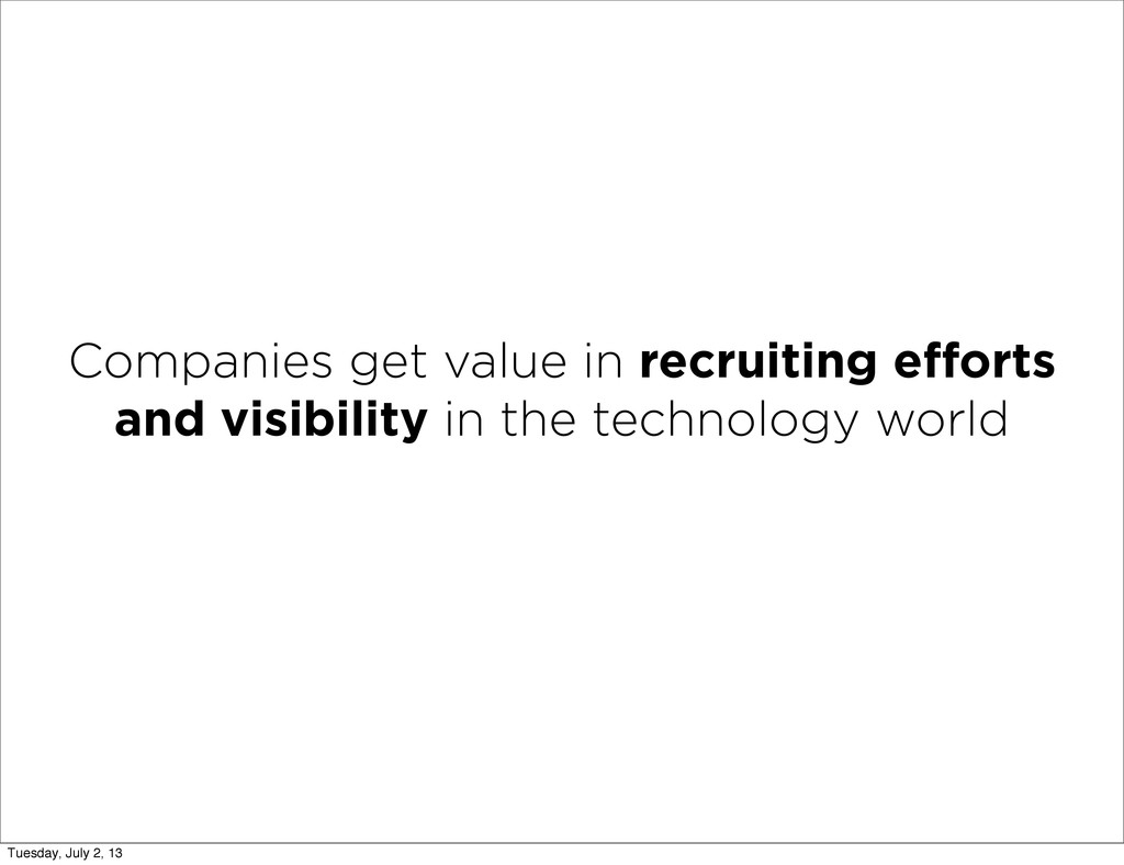 Companies get value in recruiting efforts and vi...