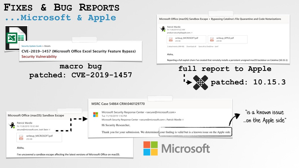 "...Microsoft & Apple FIXES & BUG REPORTS ""is a ..."